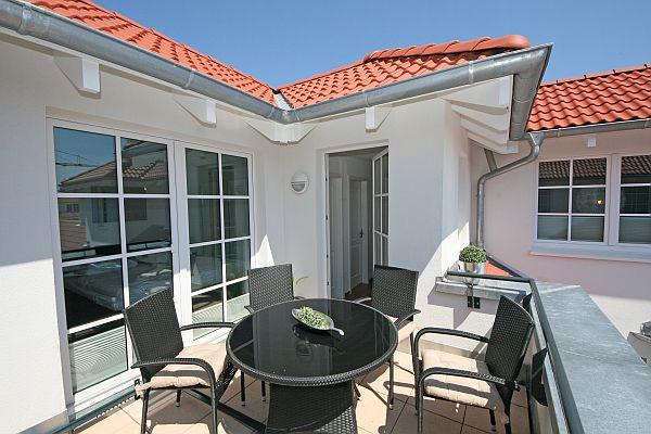 Haus Meeresblick Baabe A 3 06 Nordlicht mit Dachterrasse
