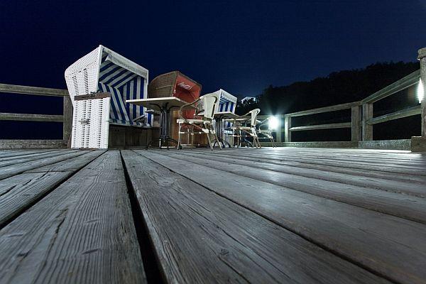 Strandkörbe gehören zur Sellin Seebrücke und sind oftmals auch in den Ferienwohnungen zu finden